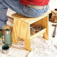 Carpenters, painters, plumbers, electricians and homeowners: give your back and knees a break with this portable, easy-to-build seat/step stool/tool box/work surface. It will make long work days go easier.