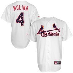 St. Louis Cardinals Majestic Stars and Stripes USA Flag Player Jersey #cardinals #mlb #stlouis