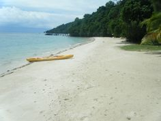 Private beach for guests staying on Manukan Island.
