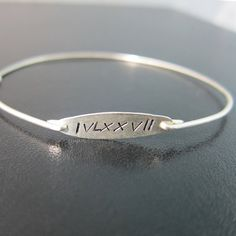 $ 34.95 Roman Numeral Bracelet Roman Numeral Jewelry by FrostedWillow