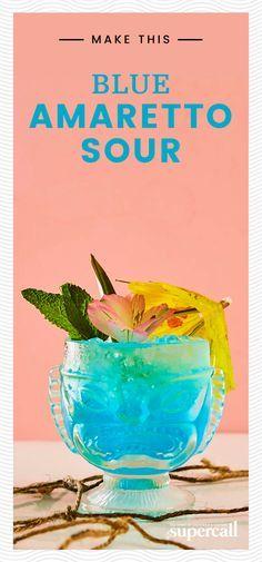 The Texas Tiki cockt Amaretto Drinks, Amaretto Sour, Vodka Cocktails, Alcoholic Drinks, Cocktails 2018, Cocktail Shots, Cocktail Drinks, Cocktail Recipes Pineapple Juice, Absolut Elyx