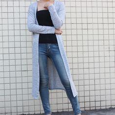 f778db8ee1 Gray Black Red Free Shipping Cardigan Women Sweater casual Crochet Poncho Plus  Size Coat Women long