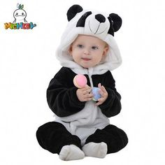 1532fbe413c1 MICHLEY Spring Autumn Baby Clothes Flannel Baby Boys Clothes Cartoon Animal Jumpsuits  Infant Girl Rompers Baby Clothing Size Suggest Height Suggest.