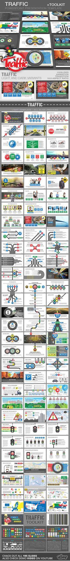 Traffic PowerPoint Presentation Template + Toolkit - Creative PowerPoint Templates
