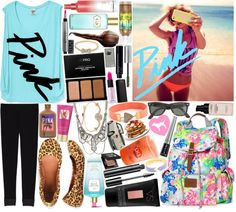 """Contest:: VS PINK Spring Break"" by sbhackney on Polyvore"