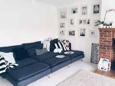 Clean lines keep it chic, and deep seats and comfy cushions make it a really livable sofa for real people's real homes. Oh, and the affordable price tag is a pretty great feature, too.