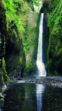 oregon waterfall we came upon.....It was simply beautiful