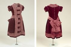Girl Dress in velvet, approx. 1877