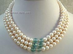 Outstanding tips on developing smarter fine jewelry actions White Freshwater Pearl, Freshwater Pearl Necklaces, Pearl Jewelry, Crystal Necklace, Pearl White, Fine Jewelry, Jewelry Design, Jewelry Ideas, Earring Set