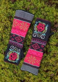 """""""Gry"""" fingerless gloves in eco-cotton – Norway – GUDRUN SJÖDÉN – Webshop, mail order and boutiques 