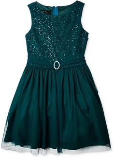 Amy Byer Girls' Plus Sequined A-Line Dress on shopstyle.com