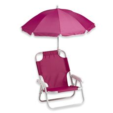 Baby Beach Chair with Umbrella  Kids will love taking their very own chair to the beach, camping, picnics and family outings. The strong metal frame is coated in a scratch-resistant enamel for weather protection and wear while the nylon material has double stitched seams for durability. a #mommy #steal for $19.99