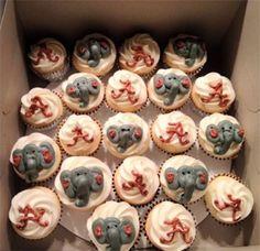 Alabama Crimson Tide Cupcakes