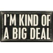 """""""I'm Kind of a Big Deal"""" box sign"""