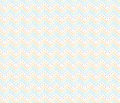 Watercolor_Flowers_Chevron fabric by mia_valdez on Spoonflower - custom fabric