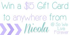 Win a $15 Gift Card to anywhere you'd like! {And the entries are simple too!}