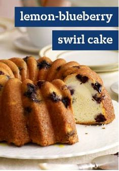 Lemon-Blueberry Swirl Cake – Some things just go together. Like blueberries and lemon. Especially when mixed into a deliciously moist cake with a smooth and creamy swirl.