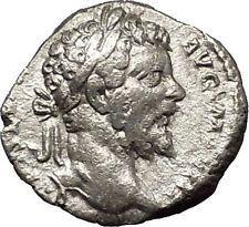 SEPTIMIUS SEVERUS 196AD Ancient Silver Roman Coin Fortuna Luck i53135