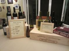 Host your own Wine Tasting Party with these suggestions: http://diypartyandentertainmentideas.com/wine-tasting-party/