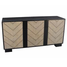 Pen-Shell and Chevron Pattern Cabinet or Sideboard | From a unique collection of antique and modern cabinets at https://www.1stdibs.com/furniture/storage-case-pieces/cabinets/