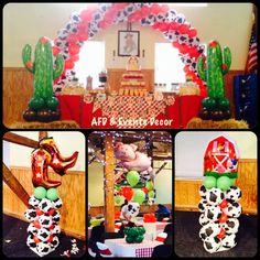 Western Farm Balloons Decor By: Azcona Floral Designs & Events Decor