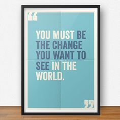 Quadro Be the Change | Fábrica9