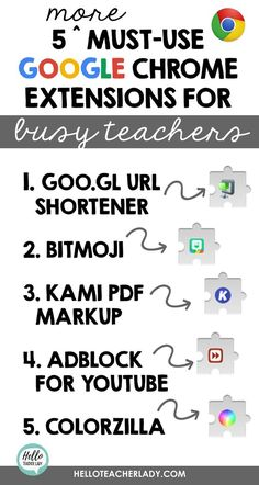 5 Must-Use Chrome Extensions for Busy Teachers Teaching Technology, Educational Technology, Technology In Schools, Medical Technology, Energy Technology, Technology Lessons, Technology Humor, Technology Gadgets, Student Learning