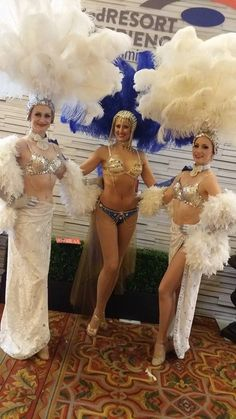 Las Vegas Showgirls at G2E 2015 Global Gaming Expo