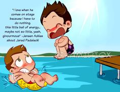 Jensen loves Jared 04 by KamiDiox Done for the #SupernaturalArtShow on twitter. Wanna bet they already did this?