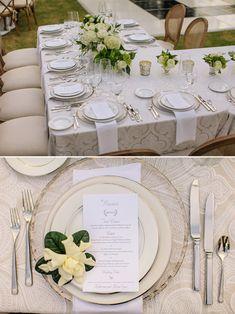 gold and ivory wedding reception @weddingchicks
