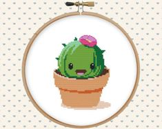 Cactus cross stitch pattern cross stitch PDF instant