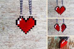 Legend of Zelda, heart container necklace.