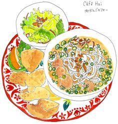 Japanese food illustration from http://imainatsuko.jugem.jp/