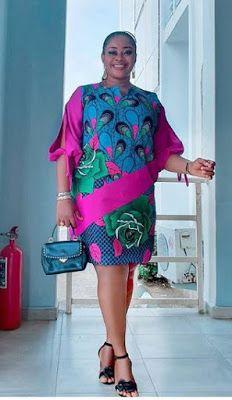 Simple A-Line Ankara Mini Gown Styles for Cute Ladies - African Fashion Styles Ankara Styles For Women, Ankara Short Gown Styles, Ankara Gowns, Short Gowns, African Fashion Ankara, Latest African Fashion Dresses, African Print Fashion, Short African Dresses, African Print Dresses