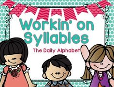 Workin' On Syllables is a great FREEBIE center for students in the beginning stages of phonemic/phonological awareness. This can be used for small group instruction/assessment, a pocket chart center or a table top center! Education And Literacy, Kindergarten Literacy, Literacy Activities, Teaching Resources, Teaching Ideas, Phonemic Awareness Activities, Phonological Awareness, Kindergarten Freebies, Classroom Freebies