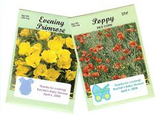 Flower Seed Packets - An Inexpensive Baby or Bridal Shower Favor - Cheap even! - Thrifty Jinxy