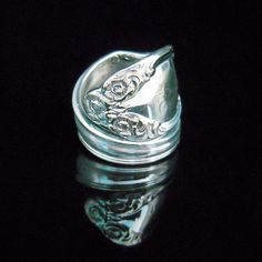 Silver Spoon Ring  Lady Densmore aka Woodland Rose by MarchelloArt, $19.99