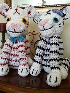 Ravelry: Crochet white and bengal tiger pattern by HelenMay Crochet