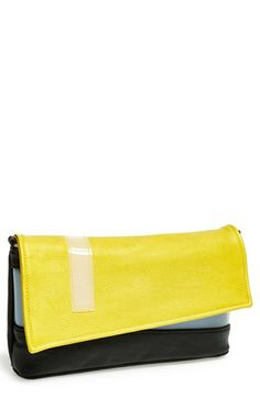 POVERTY FLATS by rian Colorblock Flap Clutch available at #Nordstrom