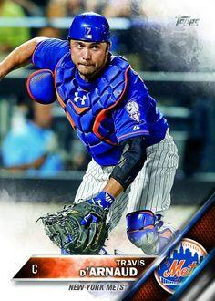2016 Topps baseball card: Travis d'Arnaud NY Mets Catcher