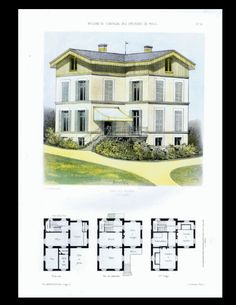 Original Antique Architectural Print  by RarePostCards on Etsy