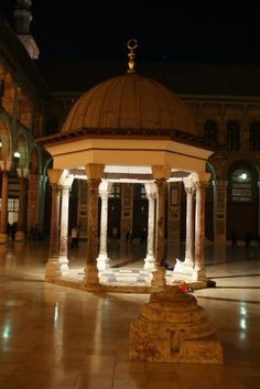 Inside the Umayyad Mosque, Damascus.