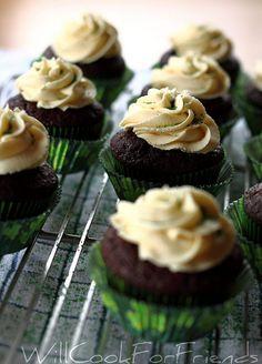 Chocolate-Guinness cupcake, Jameson ganache & bailey's buttercream?  YUM.