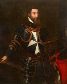 'A city, an island, a nation had proved too small to contain Leone Strozzi.' Portrait of Leone Strozzi  (15 October 1515 – 28 June 1554), brother of Piero. Prior of Capua.