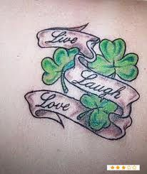 OK...I'm not a big fan o clover but this tat with some hearts...yes ma'am!
