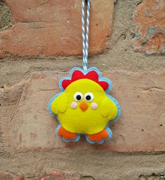 Cute felt easter chick ornament by TillysHangout on Etsy