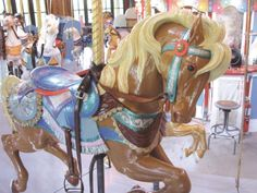 Business West article about the Holyoke Merry Go Round's future Mountain Park, Wooden Horse, Merry Go Round, Carousels, Carousel Horses, Amusement Park, In The Heights, Future, Business