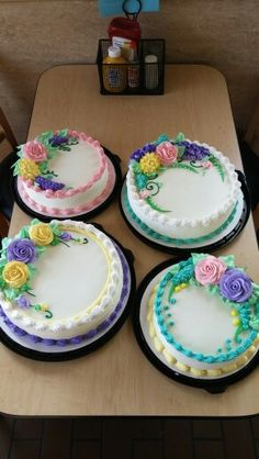 Dairy Queen cake spring floral designs by Mandy