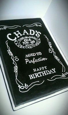 Aged to Perfection! Jack Daniels birthday cake