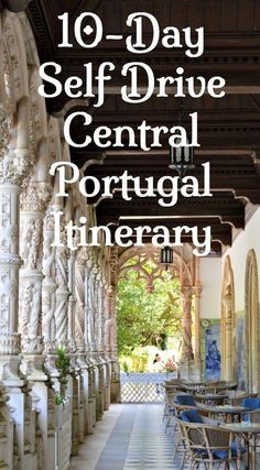 10-Day Self Drive DIY Portugal Itinerary. Discover Central Portugal. This bookable itinerary is ideal for independent travellers who want to book their own accommodation and stay flexible while getting off the beaten track in Portugal. Balanced and logical, this self-drive itinerary takes you to gardens, wineries, medieval towns, traditional villages, historical cities, river beaches, coastal beaches, forests, mountains, museums, monasteries and more. Click to get started.